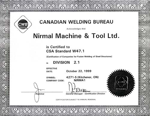 Certification and qualification cwb group autos post for Welding certificate template